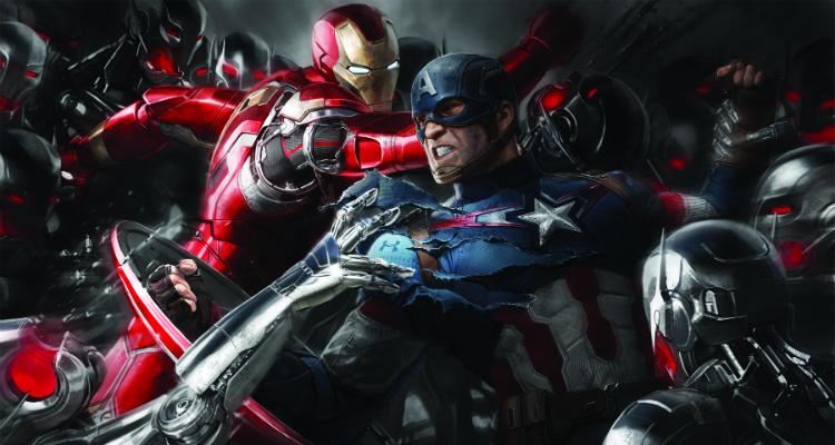 Iron Man, Ultron and Captain America