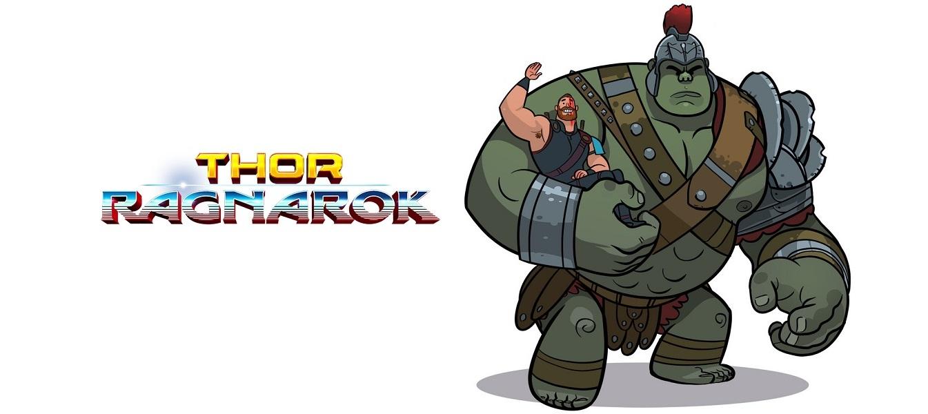 Thor Ragnarok fan art avec hulk et thor