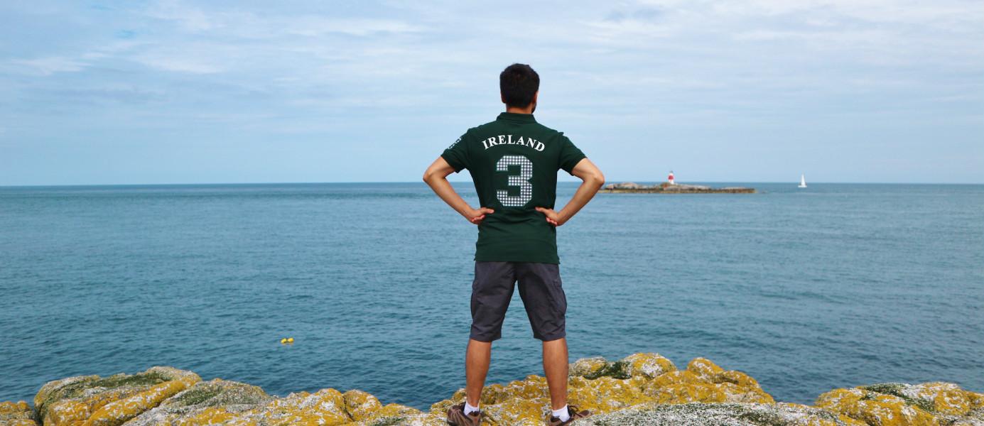 vue depuis Dalkey Island en Irlande