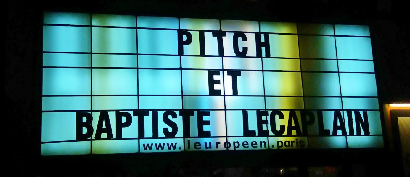 Avis sur la série Pitch vus en avant-première au Théâtre de l'Européen